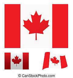 bandiera canada, set
