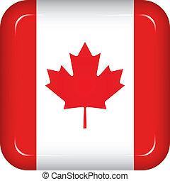 bandiera canada, vettore