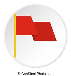 bandiera, cerchio, icona, rosso