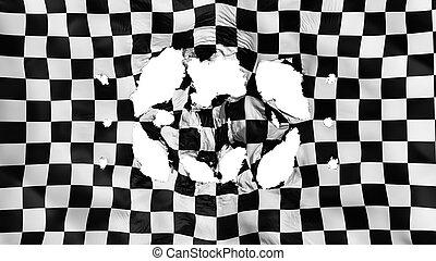 bandiera, checkered, fori