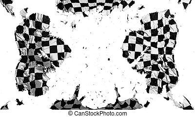 bandiera, checkered, sparso