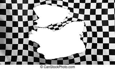bandiera, checkered, stracciato