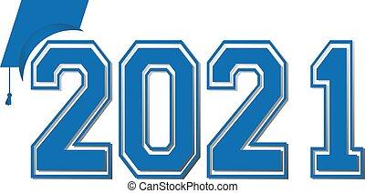 bandiera, classe, 2021, graduazione, blu