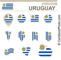 bandiera, collezione, uruguay