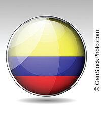 bandiera, columbia, icona