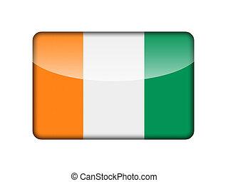 bandiera, cote, repubblica, ivoire