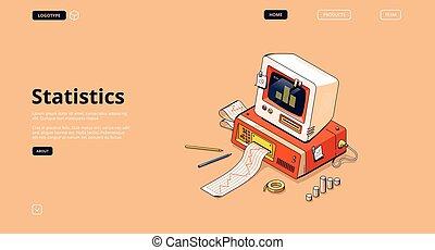 bandiera, dati, analisi, statistica, vettore