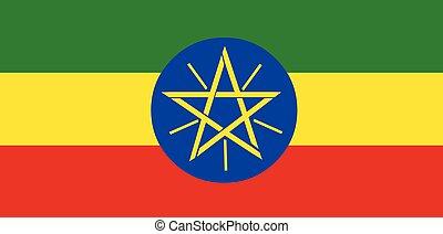 bandiera etiopia, vettore
