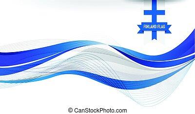 bandiera, finlandia, fondo
