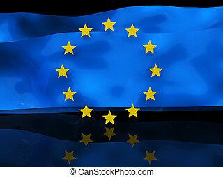 bandiera, fondo, europeo