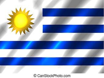 bandiera, fondo, uruguay
