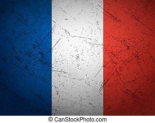 bandiera francia, grunge