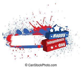 bandiera, giorno, indipendenza, felice