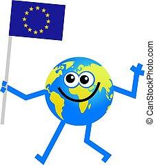 bandiera, globo