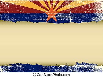 bandiera, graffiato, orizzontale, arizona