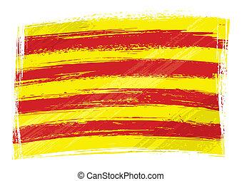 bandiera, grunge, catalogna