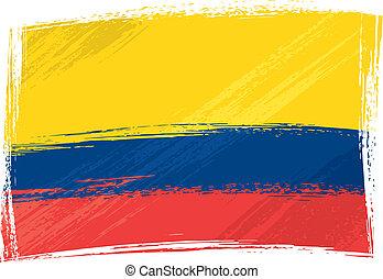 bandiera, grunge, colombia