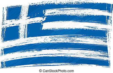 bandiera, grunge, grecia