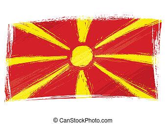 bandiera, grunge, macedonia