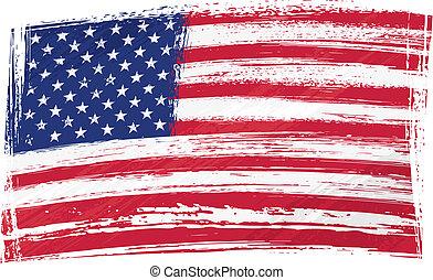 bandiera, grunge, stati uniti