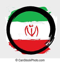 bandiera iran, grunge