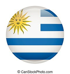 bandiera, isolato, uruguay