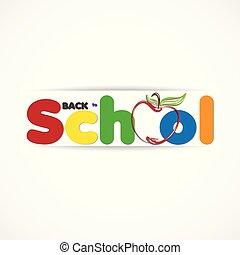 bandiera, logotipo, educazione, indietro, icona, scuola