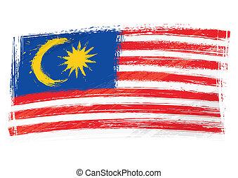 bandiera malaysia, grunge