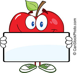 bandiera, mela, rosso, presa a terra