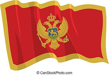 bandiera, montenegro