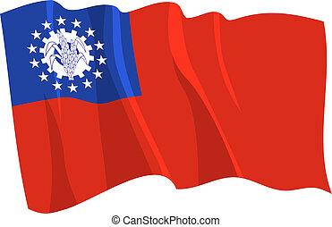 bandiera, myanmar