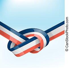 bandiera, nastro, francia