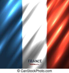 bandiera nazionale, fondo, francia