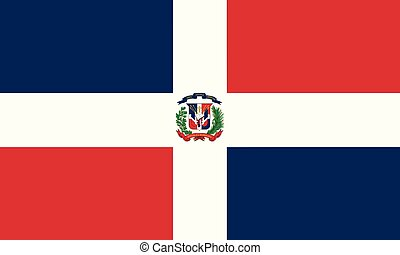 bandiera nazionale, repubblica, domenicano