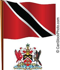 bandiera, ondulato, tobago, trinidad