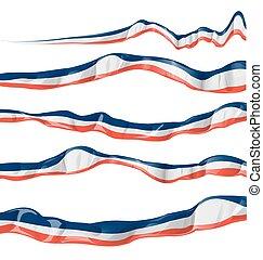 bandiera, orizzontale, collezione, francia