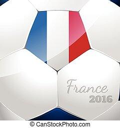 bandiera, palla calcio, francia