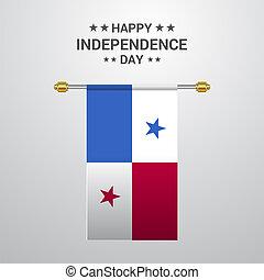 bandiera panama, fondo, appendere, giorno, indipendenza