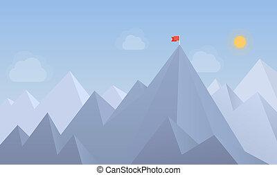 bandiera, picco, illustrazione