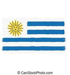 bandiera, pixelated, uruguay