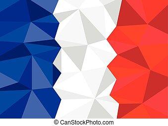 bandiera, poligono, fondo, francia