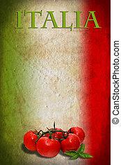 bandiera, pomodori, italiano