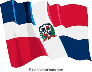 bandiera, repubblica, domenicano