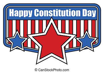 bandiera, retro, giorno, costituzione