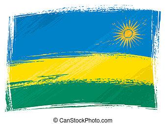 bandiera, ruanda, grunge