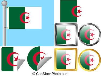 bandiera, set, algeria