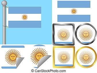 bandiera, set, argentina