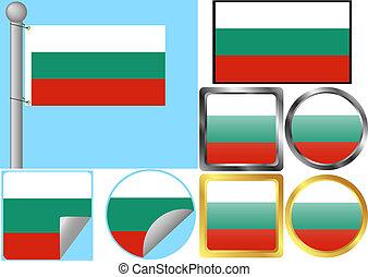 bandiera, set, bulgaria