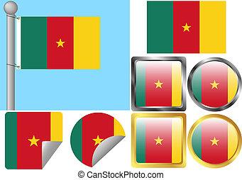 bandiera, set, camerun