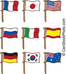 bandiera, set